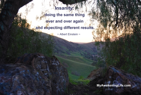Insanity is doing the same thing over and over again and expecting different results.